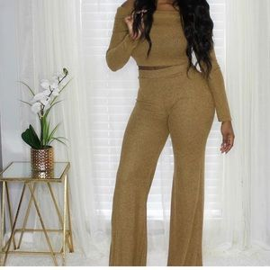 Other - Sassy Off Shoulder Palazzo Pants